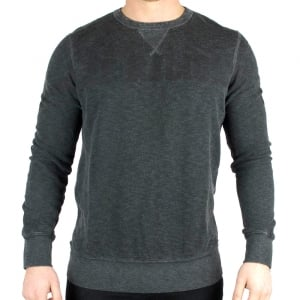 True Religion Sweatshirt TR Wide Crew In Black