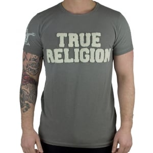 True Religion True Embro T-Shirt in Grey