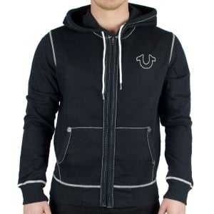 Hoodies Logo Stitch Contrast In Black
