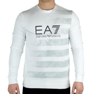 Ea7 Graphic Sweatshirt in White