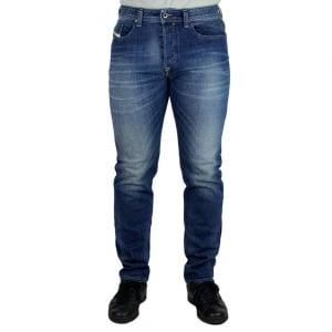 Diesel Buster Regular Leg Jeans in Mid Wash