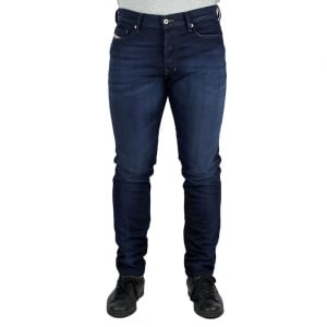 Diesel Teppher Regular Leg Jeans in Dark Wash