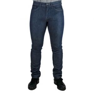Boss Black Delaware 3 Long Leg Jeans in Navy