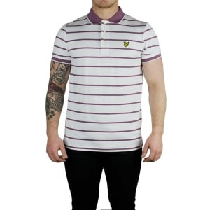 Lyle & Scott Vintage Birdseye Polo Top in White