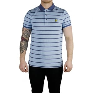 Lyle & Scott Vintage Birdseye Polo Top in Blue