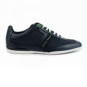Boss Green Space Low Trainers in Dark Blue