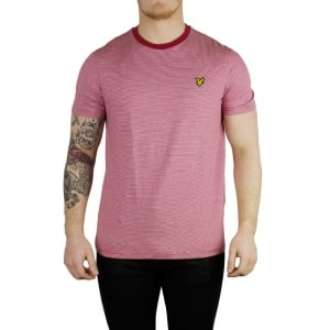Lyle & Scott Vintage Fine Stripe T-Shirt in Red