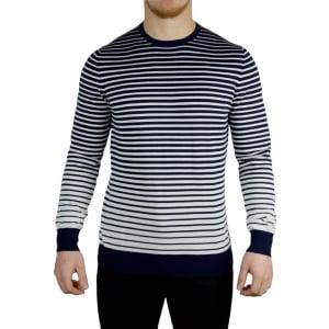 Hugo Stripe Fade Knitwear in Dark Blue