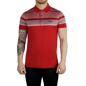 Boss Green Paule 5 Polo Shirt in Red