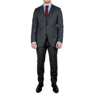 Boss Black Huge4/Genius Suit in Dark Grey