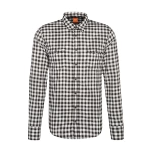 Boss Orange EdoslimE Checked Shirt in Black