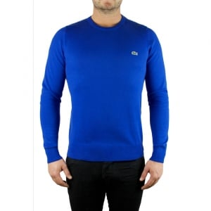 Lacoste Crewneck Sweat Knit in Blue