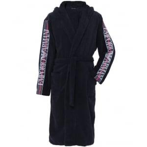 Emporio Armani Underwear Bathrobe in Navy
