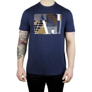 Armani Jeans AJ Jersey T-Shirt in Navy