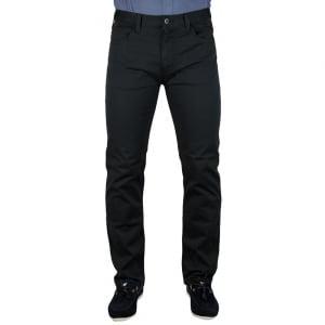 Armani Jeans Man Woven Short Leg Jeans in Black