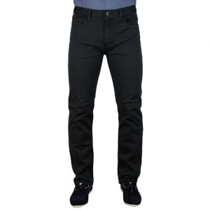 Armani Jeans Man Woven Long Leg Jeans in Black