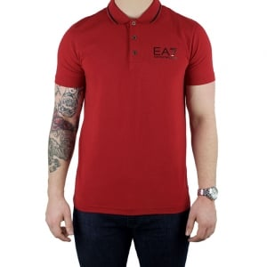 Ea7 Core Polo Shirt in Red