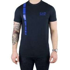 Ea7 Logo 2 T-Shirt in Navy