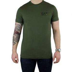 Ea7 Core T-Shirt in Khaki