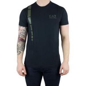 Ea7 Logo 2 T-Shirt in Black