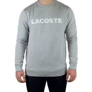 Lacoste Big Lacoste Branded Sweatshirt in Grey