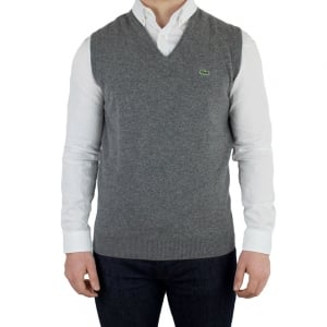 Lacoste V-Neck Knitwear in Dark Grey