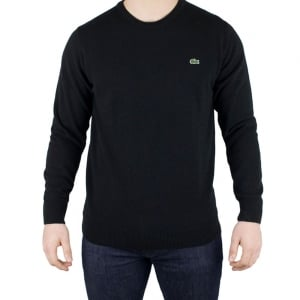 Lacoste Round Neck Knitwear in Black