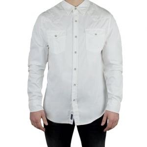 True Religion Long Sleeved Jack Western Shirt in White