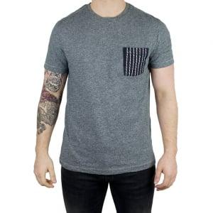 True Religion Super T Stitch T-Shirt in Grey Natural