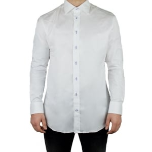Armani Collezioni Plain Button Formal Shirt in White