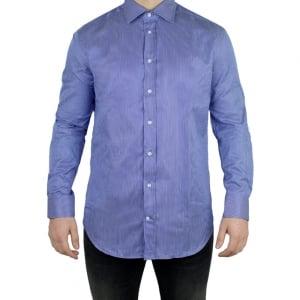 Armani Collezioni Stripe Formal Shirt in Blue