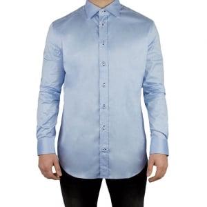 Armani Collezioni Plain Button Formal Shirt in Blue