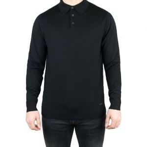 Armani Collezioni Knit Polo Knitwear in Black
