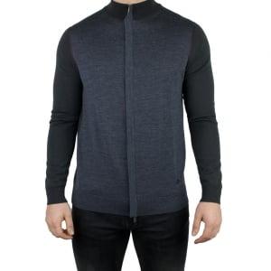 Armani Collezioni Cardigan Knitwear in Dark Grey