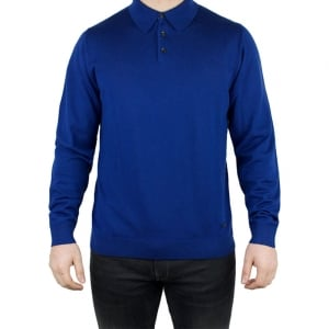 Armani Collezioni Polo Top Knitwear in Blue