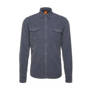 Boss Orange EdoslimE Shirt in Dark Blue