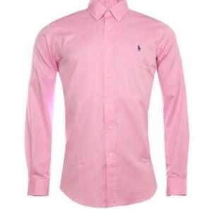 Ralph Lauren Polo Long Sleeved Slim Shirt in Pink