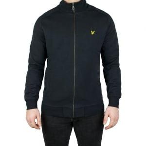 Lyle & Scott Vintage Funnel Zip Sweatshirt in Black