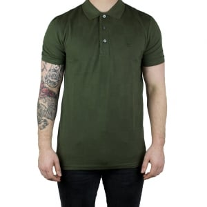 Lyle & Scott Vintage Checker Block Polo Top in Green