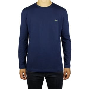 Lacoste Long-Sleeve T-Shirt in Navy