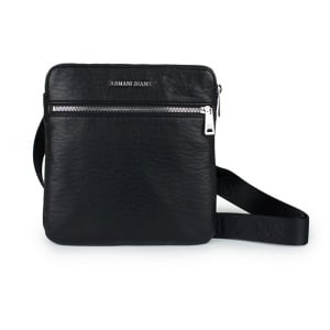 Armani Jeans Zip Front Bag in Black