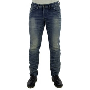 Diesel Belther Short Leg Jeans in Mid Wash