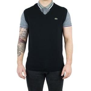 Lacoste V-Neck Knitwear in Black