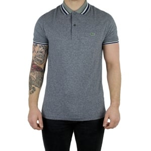 Lacoste Green Trim Polo Shirt in Grey