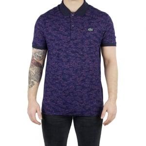 Lacoste Camo Print Polo Shirt in Navy