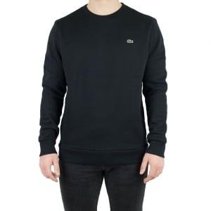 Lacoste Round Neck Sweatshirt in Black