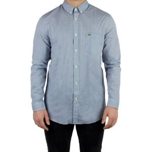 Lacoste Check Shirt in Blue