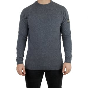 Barbour International Conquest Knitwear in Grey