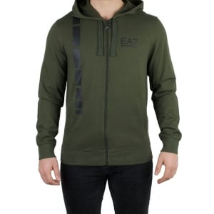Ea7 Man Jersey Sweatshirt in Khaki