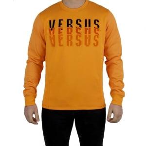 V Versus 3 Versus Logo Sweatshirt in Orange